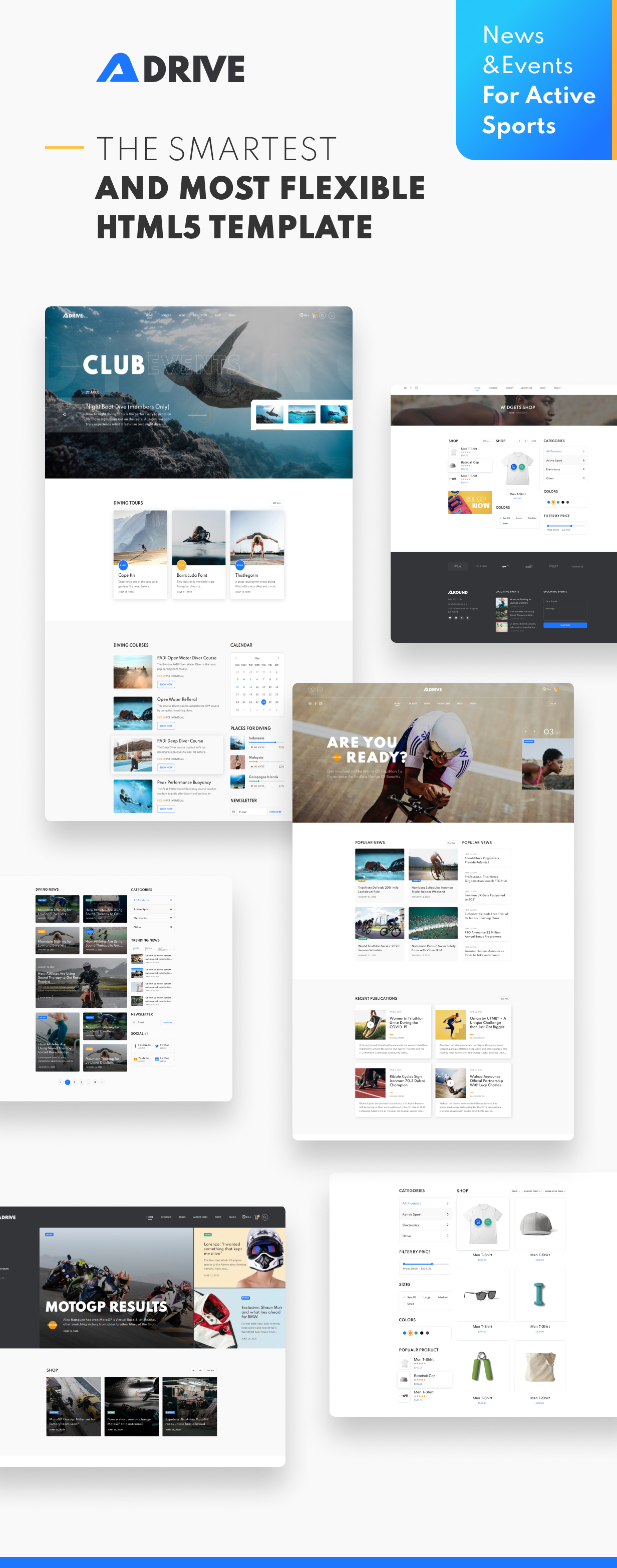Adrive - Active Sports Website Template