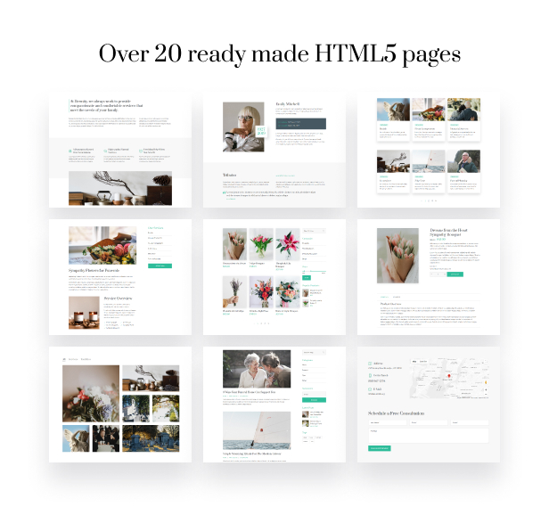 Eternity - Funeral Services HTML5 Theme - 1
