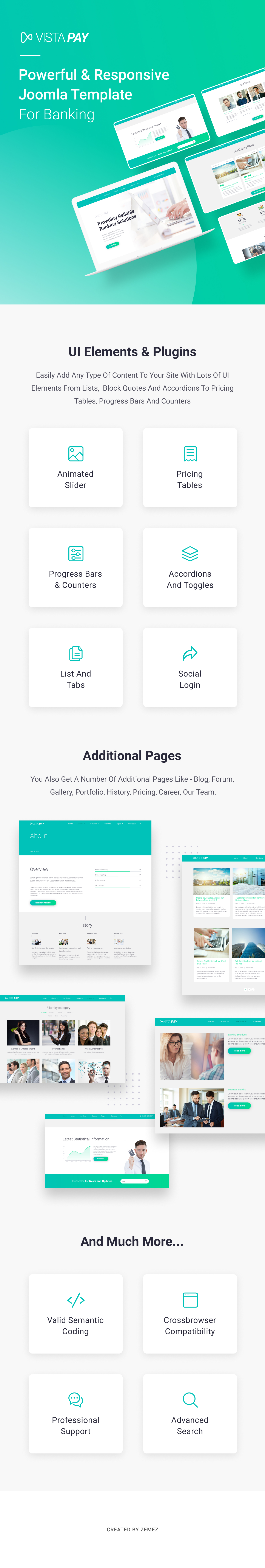 01 VistaPay - Bank Multipage Joomla Theme theme WordPress