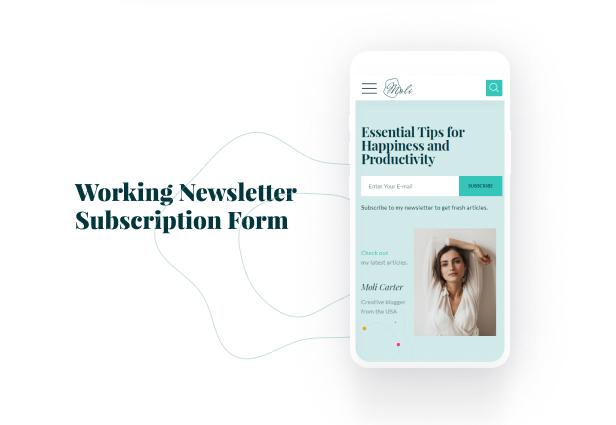 Moli - Personal Blog HTML 5 Template - 10